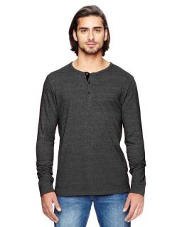 Mens Eco Mock Twist Long-Sleeve Henley Shirt-