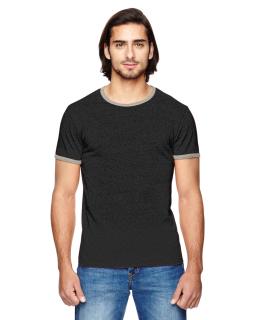 Mens Eco-Mock Twist Ringer Crew T-Shirt-