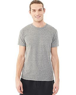 Mens Eco Jersey Triblend Drop Neck Crew T-Shirt-