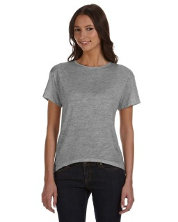 Ladies Pony Melange Burnout T-Shirt With Back Strap-