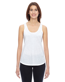 Ladies Shirttail Satin Jersey Tank-Alternative