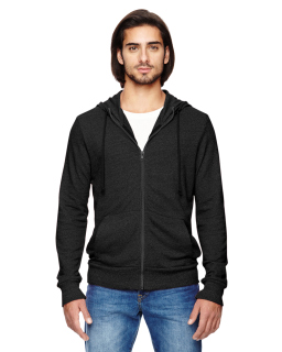 Mens Rocky Eco-Mock Twist Mock Neck Zip Hoodie