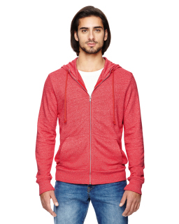 Mens Rocky Eco-Mock Twist Mock Neck Zip Hoodie-