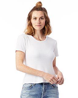 Ladies Mia Slinky Rib Crew T-Shirt-