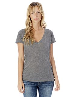Ladies Slinky-Jersey V-Neck T-Shirt-