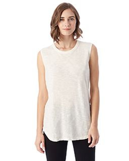 Inside Out Garment Dye Slub Sleeveless T-Shirt-