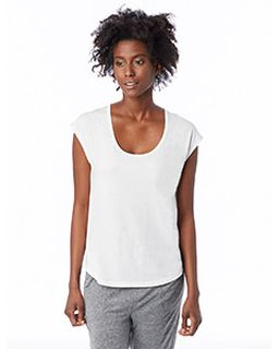 Ladies Melrose Organic Pima Cotton Scoop T-Shirt-
