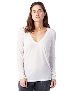Ladies Deep V-Neck T-Shirt-Alternative