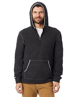 Adult Quarter Zip Fleece Hooded Sweatshirt-Alternative