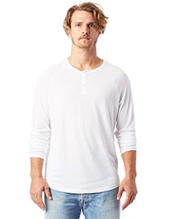 Adult Organic Raglan Long Sleeve Henley T-Shirt-Alternative