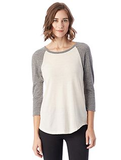 Ladies Eco-Jersey™ Raglan Baseball T-Shirt-Alternative