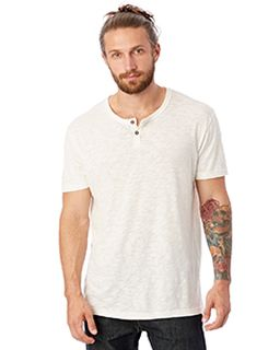 Unisex Home Team Garment Dyed Slub Henley Shirt-Alternative