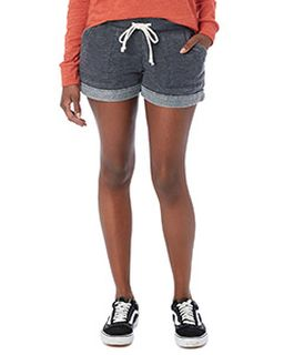 Ladies Lounge Burnout French Terry Shorts-