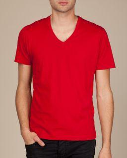 Mens Basic V-Neck T-Shirt-