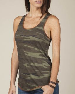 Ladies Meegs Printed Racerback Eco-Jersey™ Tank-Alternative