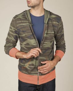 Mens Eco-Jersey™ Triblend Long-Sleeve Printed Full Zip Hoodie-