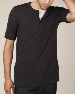 Mens Short-Sleeve Henley-