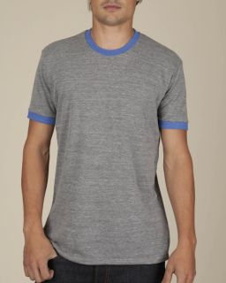 Mens Ringer Eco Jersey Triblend Contrast Crew T-Shirt-