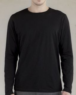 Mens Joey Slub Long-Sleeve Crew-