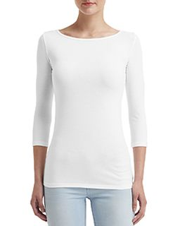 Ladies Stretch 3/4 Sleeve T-Shirt-