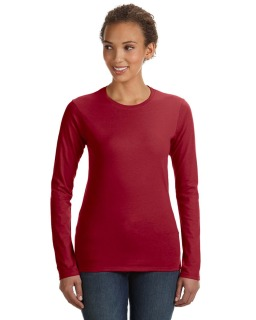 Ladies Lightweight Fitted Long-Sleeve T-Shirt-