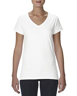 Ladies Lightweight Fitted V-Neck T-Shirt-