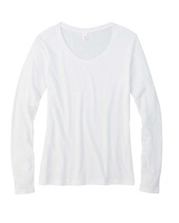 Ladies Featherweight Long-Sleeve Scoop T-Shirt-