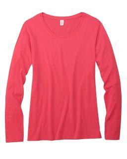 Ladies Featherweight Long-Sleeve Scoop T-Shirt-