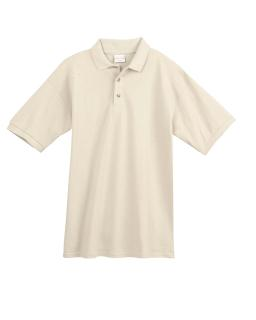6.5 Oz., 100% Organic Ringspun Cotton Pique Sport Shirt-