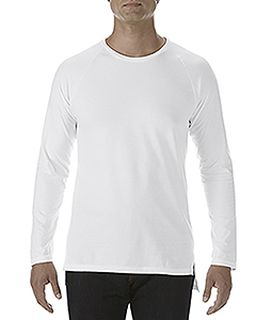 Adult Lightweight Long & Lean Raglan Long-Sleeve T-Shirt-Anvil