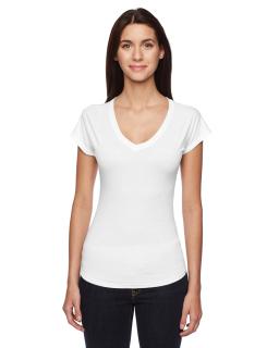 Ladies Triblend V-Neck T-Shirt-