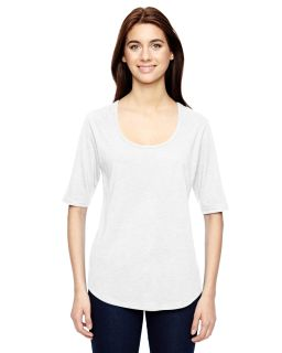Ladies Triblend Deep Scoop 1/2-Sleeve T-Shirt-