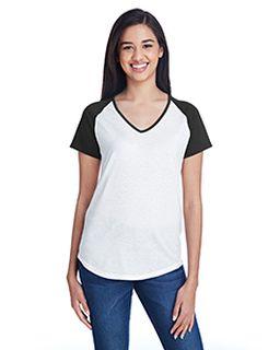 Ladies Tri-Blend Raglan T-Shirt-Anvil