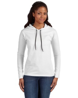 Ladies Lightweight Long-Sleeve Hooded T-Shirt
