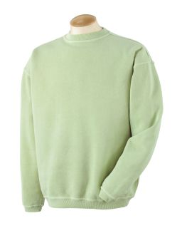 11 Oz. Pigment-Dyed Ringspun Cotton Fleece Crew-Authentic Pigment