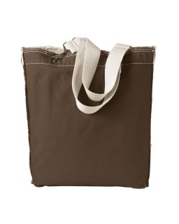 14 Oz. Direct-Dyed Raw-Edge Tote-