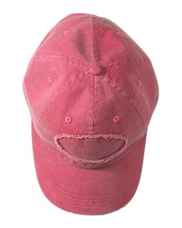 Pigment-Dyed Raw-Edge Patch Baseball Cap-Authentic Pigment