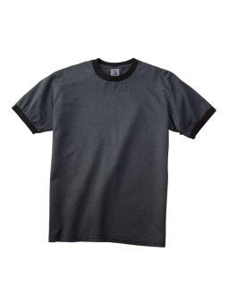 6 Oz. Direct-Dyed Heather Ringer T-Shirt-