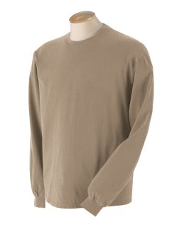 5.6 Oz. Pigment-Dyed & Direct-Dyed Ringspun Long-Sleeve T-Shirt-Authentic Pigment