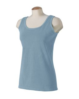 Ladies 5.6 Oz. Pigment-Dyed & Direct-Dyed Ringspun Tank-