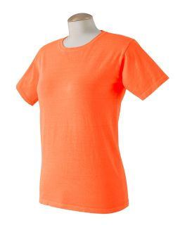 Ladies 5.6 Oz. Pigment-Dyed & Direct-Dyed Ringspun T-Shirt-Authentic Pigment