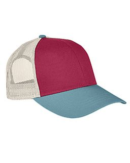 Tri-Color Trucker Cap-Authentic Pigment