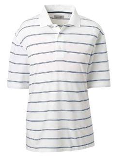 Men�s High Twist Cotton Tech Stripe Polo-