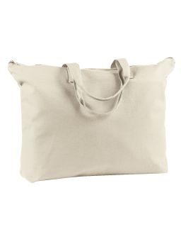 12 Oz. Canvas Zippered Book Tote-