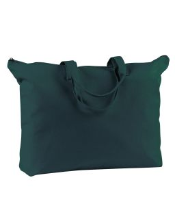 12 Oz. Canvas Zippered Book Tote-BAGedge