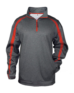 Adult Fusion Quarter-Zip Fleece Pullover-Badger