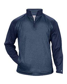 Adult Sport Heather Tonal Quarter-Zip Fleece Pullover