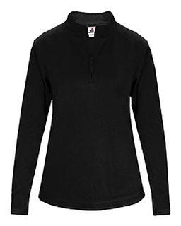 Ladies Quarter-Zip Polyester Performance Fleece With Hem Bottom