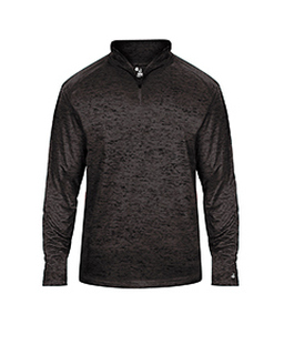 Adult Tonal Blend Performance Quarter-Zip Long-Sleeve Pullover