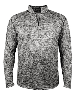 Adult Blend Quarter-Zip Long-Sleeve Pullover-Badger
